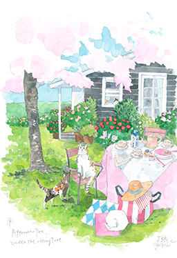 Afternoon Tea under the cherry tree