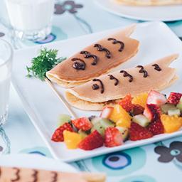 鯉のぼりパンケーキ 牛乳を使ったレシピ 明治おいしい牛乳 おいしい暮らし Natural Taste 株式会社 明治
