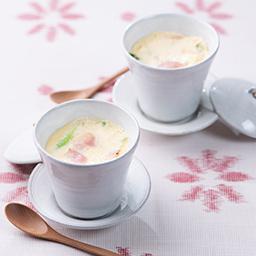 電子レンジで作る春野菜を使った茶碗蒸し 牛乳を使ったレシピ 明治おいしい牛乳 おいしい暮らし Natural Taste 株式会社 明治